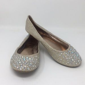 Bamboo Slip Ons Sequins Size 6 Glitter Flats